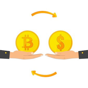 Обмен биткойнов. обмен цифровой валюты