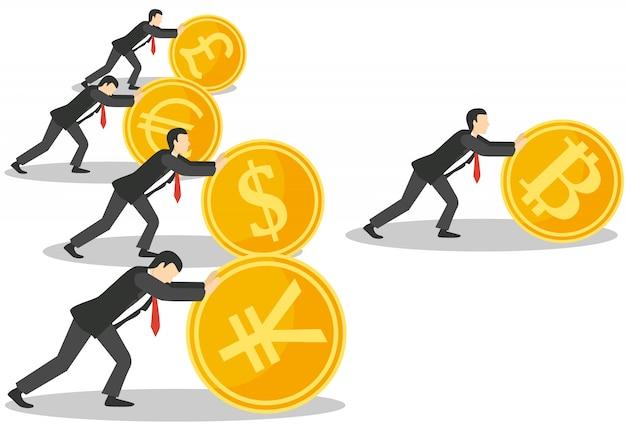 Bitcoin growth concept
