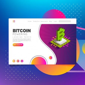 Bitcoin landing pages powewring
