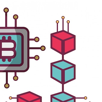 Bitcoin microchip icon