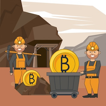 Bitcoin mining cartoons