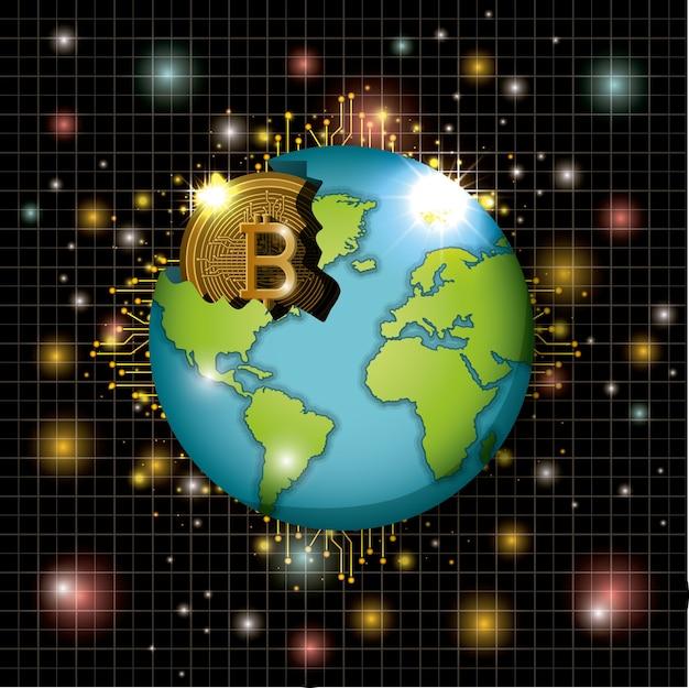 Добыча биткойнов на мировой планете