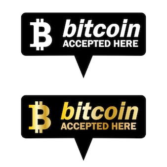 Bitcoin payment concept. mobile cryptocurrency. bitcoin transaction or donation. cryptocurrency accepted here. vector