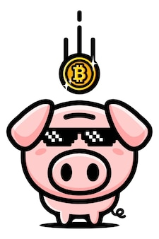 Bitcoin 저축 돼지 저금통 디자인