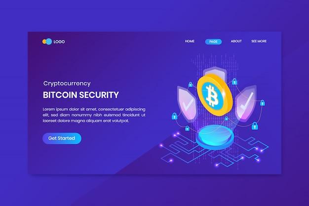 Шаблон целевой страницы криптовалюты bitcoin security