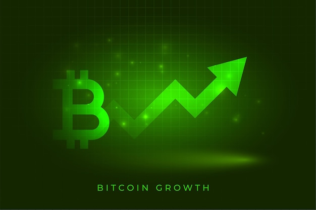 Фон концепции диаграммы роста успеха биткойнов