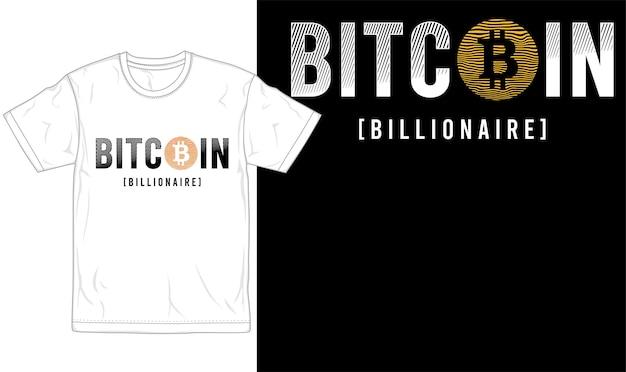 ビットコインtシャツデザインのグラフィックタイポグラフィとロゴ