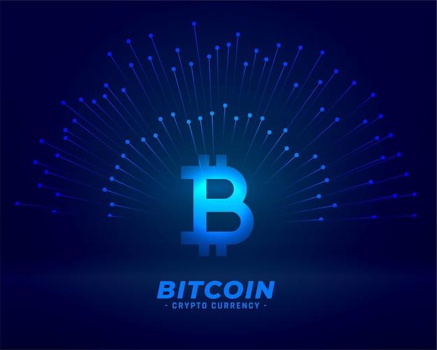 Биткойн технологии фон для концепции цифровой валюты