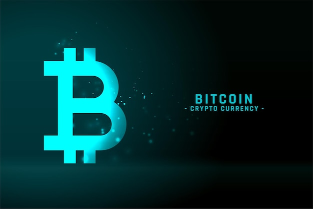 Bitcoin technology background in glowing blue color