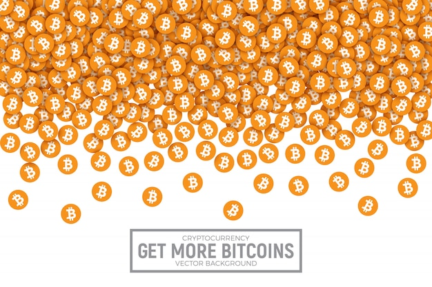 Bitcoin vector abstract conceptual illustration
