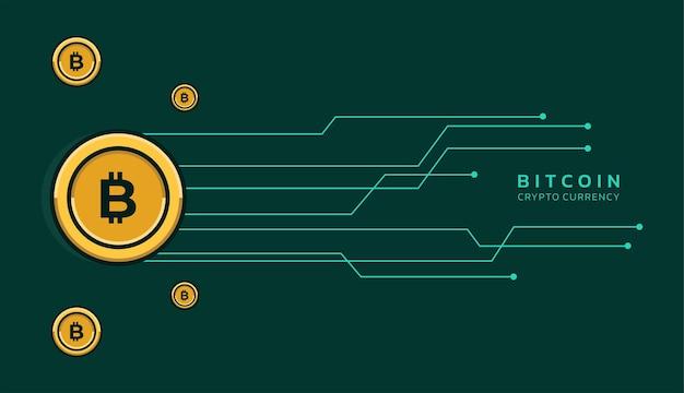 회로 라인 현대 배경이 벡터 디자인으로 bitcoin