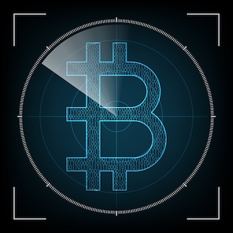 Bitcoin with radar screen