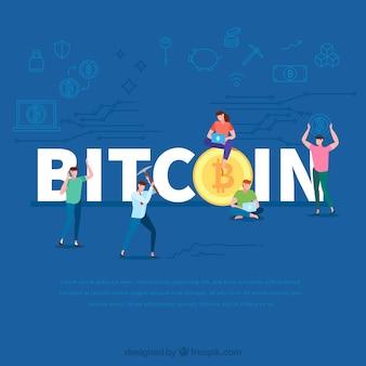 Bitcoin word concept