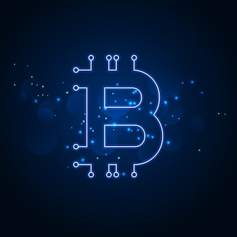 Bitcoin技術ネットワークのデジタル背景