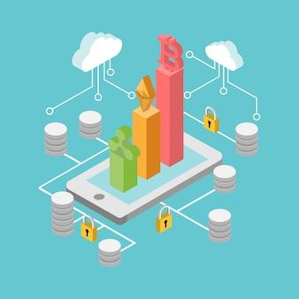 現実的なbitcoin、デジタル通貨は白い背景に分離します。