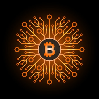 Bitcoins flat icon for infographics.