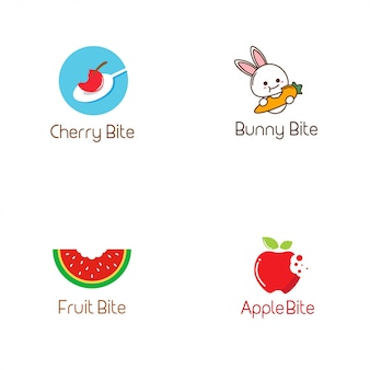 Коллекция логотипов bite
