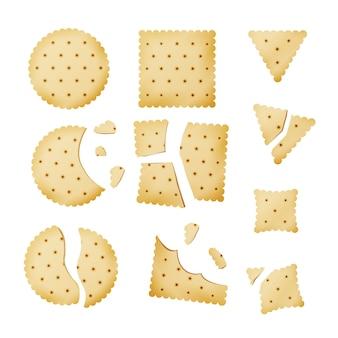 Bitten chip biscuit