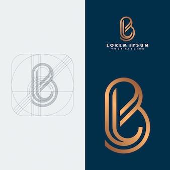 Blモノグラムのロゴのコンセプト。