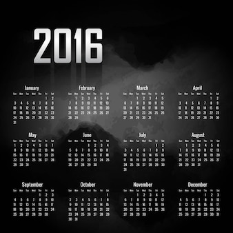 Черный 2 016 календарь