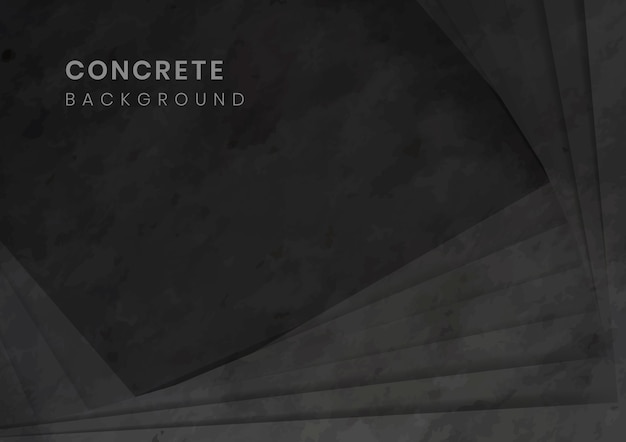 Black 3d concrete modern background