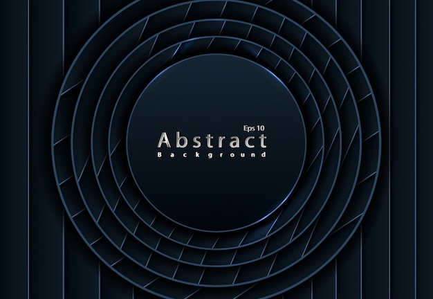 Black abstract 3d background