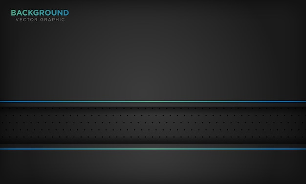 Black abstract background with blue line decoration. modern technology concept.