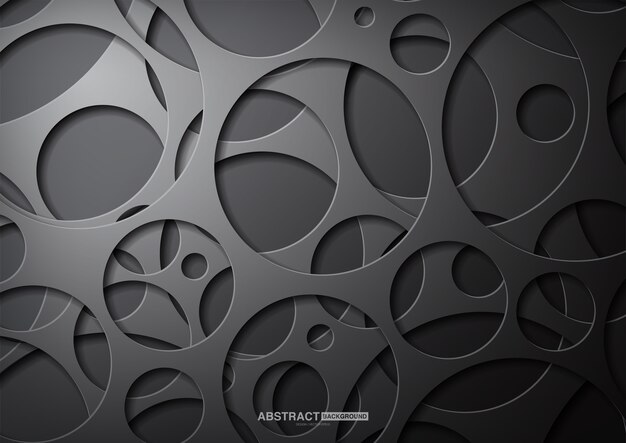 Black abstract background with dark concept..