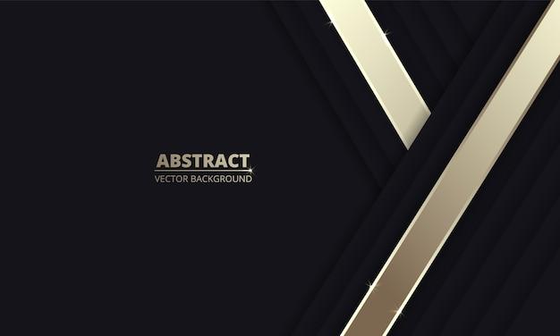 金属線と黒の抽象的な背景