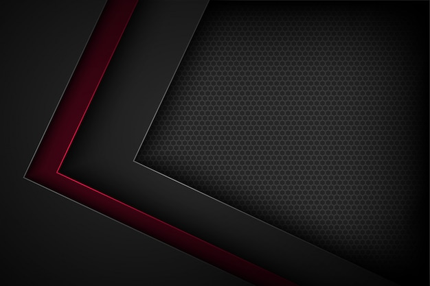 Black abstract background with overlapping characteristics.