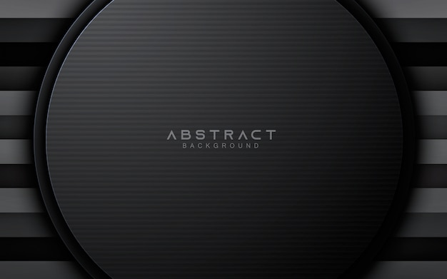 Black abstract circle layer background