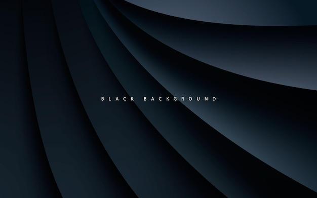 Black abstract dimension background realistic style