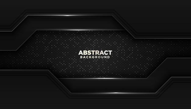 Черный абстрактный геометрический фон с блестками точек