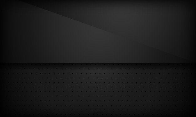 Black abstract overlap background.
