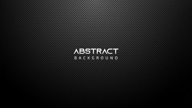Black abstract technology background with diagonal lines