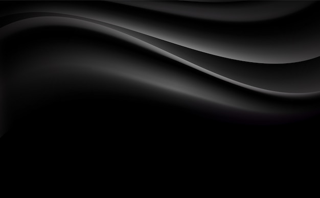 Черный абстрактный волнистый фон