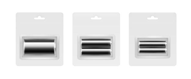 ブリスターの黒アルカリ単三、単四、単三電池