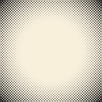 黒とベージュのハーフトーン背景ベクトル