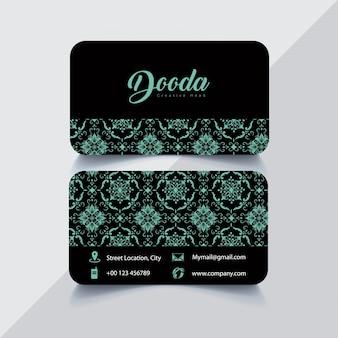 Черная и синяя визитная карточка