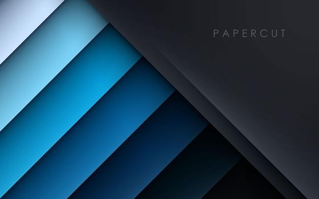 Черный и синий фон слоя перекрытия