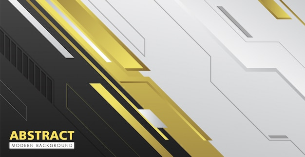 검정색과 금색 추상적 인 현대 배경