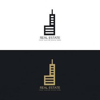 Стильный дизайн логотипа недвижимости для вашей компании