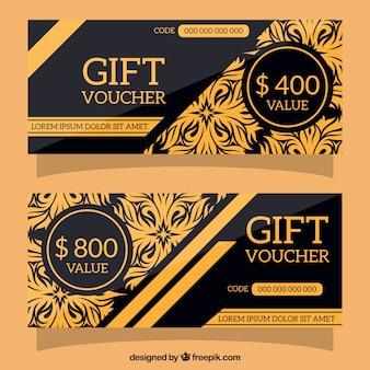 黒と金のギフト券
