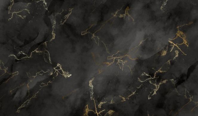 Черная и золотая мраморная текстура