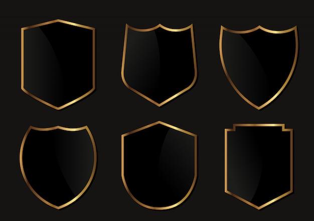 ブラックとゴールドのシールドセット