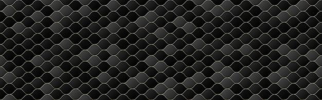 黒とグレーのグラデーションカラー波シームレスパターン背景、ラインの幾何学的なテクスチャ、最小限のデザインスタイル、