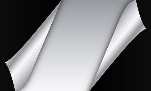 공간 배경으로 검은색과 금속 종이입니다. 배너의 새 템플릿입니다.