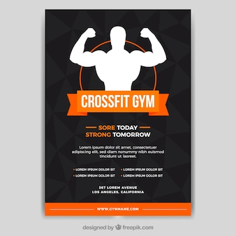 Black and orange gym cover template