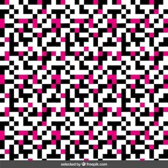 검은 색과 분홍색 픽셀 배경