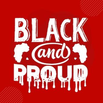 검은색과 자랑스러운 프리미엄 타이포그래피 벡터 디자인